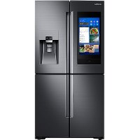 RF28N9780SG Samsung 4 Door French Door Smart Refrigerator with Family Hub and FlexZone - 27.9 cu. ft., 36 Inch Black Stainless Steel