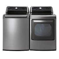 KIT LG Top Load Washer and Electric Dryer Pair - Graphite Steel