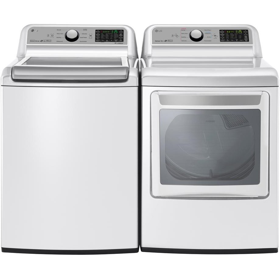 Lg Top Load Washer And Dryer Pair White Electric Rc Willey Furniture