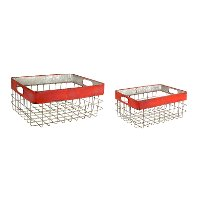 8 Inch Metal Basket with Cut Out Handles