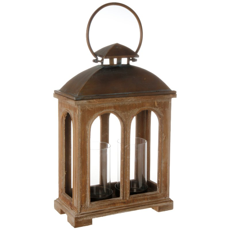 18 inch wood and metal double lantern rcwilley image1~800