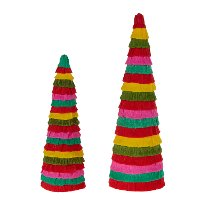 15 Inch Multi Color Cone Holiday Tree
