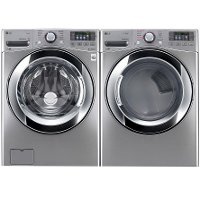 KIT LG Front Load Washer and Electric Dryer Pair - Graphite Steel