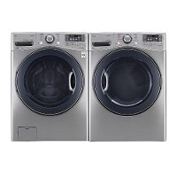 KIT LG Front Load Washer and Dryer Set with TurboWash and Steam - Graphite Steel Electric