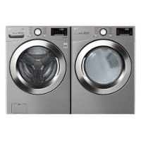 KIT LG Ultra Large Capacity Front Load Washer and Dryer Set - Graphite Steel Electric