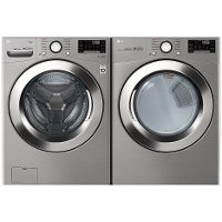 KIT LG Front Load Washer and Dryer Set with Ultra Large Capacity - Graphite Steel Gas
