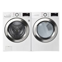 KIT LG Front Load Washer and Dryer Set - White Gas
