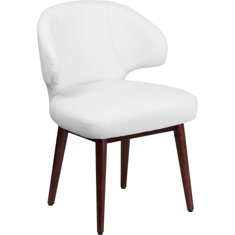 Small White Leather Accent Chair