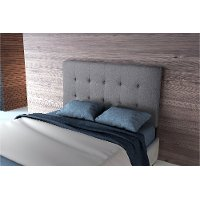 Gray Full Size Upholstered Headboard - Modernity