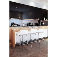 White Leatherette Bar Stool - Marina