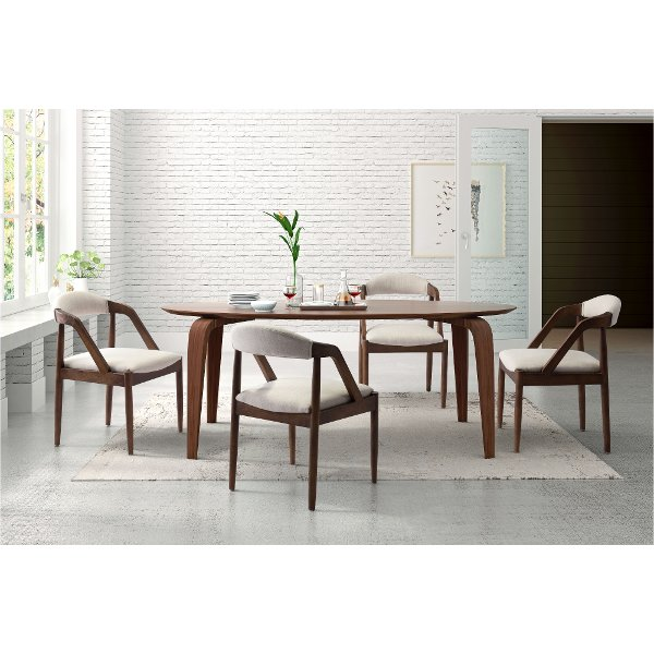Beige Upholstered Dining Room Chair
