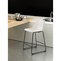 Distressed White Counter Height Stool - Smart