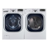 KIT LG Front Load Washer and Dryer Laundry Set - White Electric