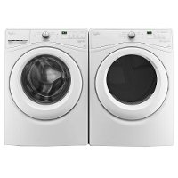 KIT Whirlpool Front Load Washer and Electric Dryer Set with front controls - White