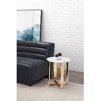 Modern Marble and Gold End Table - Atlas