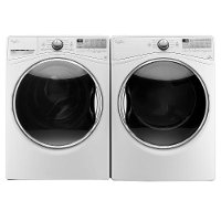 KIT Whirlpool Front Load Washer and EcoBoost Dryer Set - White Electric