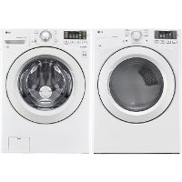 KIT LG Front Load Washer and Electric Dryer Pair - White