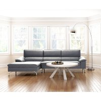 Architectural Washed Brown Round Wood Coffee Table - Beaumont