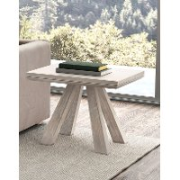 Architectural Washed Brown Wood End Table - Beaumont