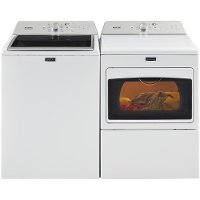 KIT Maytag Top Load Washer and Dryer Set - White Electric