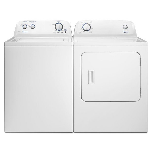 Kit Amana Top Load Washer And Dryer Set White Gas