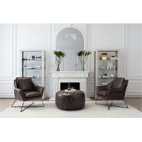Contemporary Brown Lounge Chair - Lincoln