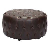 Contemporary Brown Tufted Ottoman - Neal