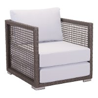 Gray and Brown Outdoor Patio Chair - Coronado