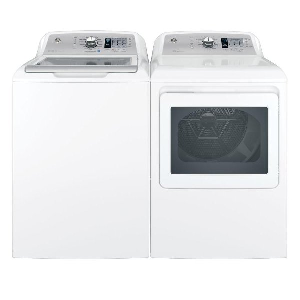 ... KIT GE Top Load Washer With Dryer Set   White Electric ...