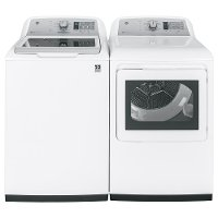 KIT GE Top Load Washer and Dryer Set -White Electric