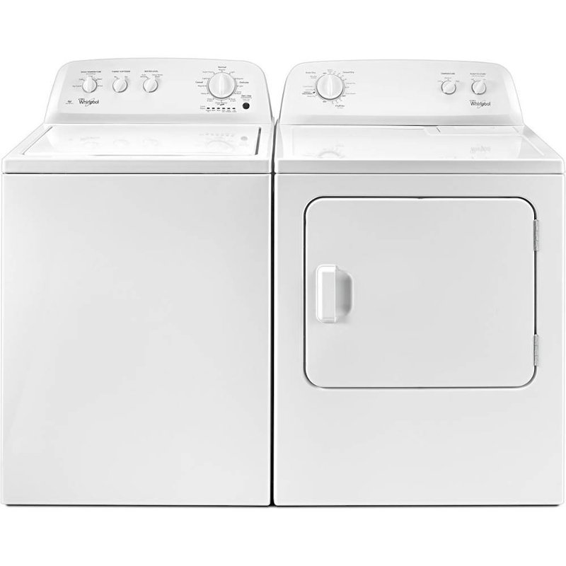 Top Load Washer And Dryer Set White Electric Rc Willey Furniture