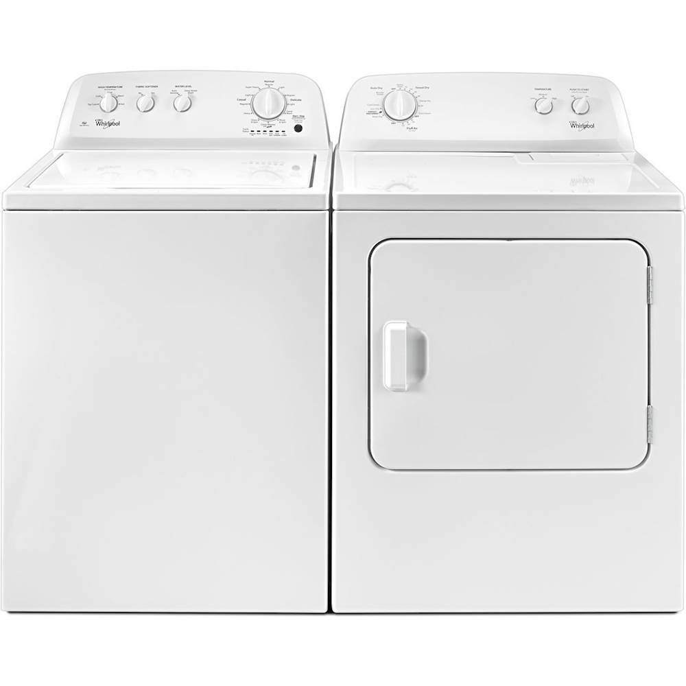 Whirlpool Top Load Washer and Electric Dryer Pair - White | RC ...