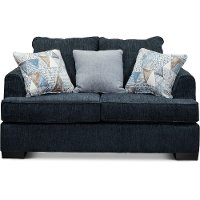 Contemporary Baltic Blue Loveseat - Lansing