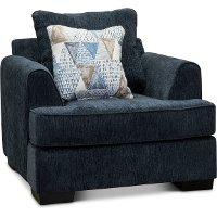 Contemporary Baltic Blue Chair - Lansing