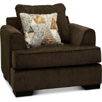 Contemporary Chocolate Brown Chair - Lansing