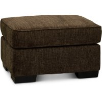 Contemporary Chocolate Brown Ottoman - Lansing