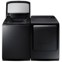 KIT Samsung Top Load Washer and Dryer Set - Black Stainless Steel Electric