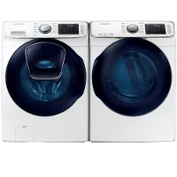 KIT Samsung Front Load Washer and Dryer Laundry Set - White Electric