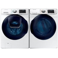 KIT Samsung Front Load Washer and Dryer Laundry Set - White Gas