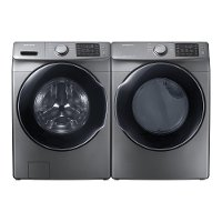 KIT Samsung Front Load Washer and Electric Laundry - Platinum