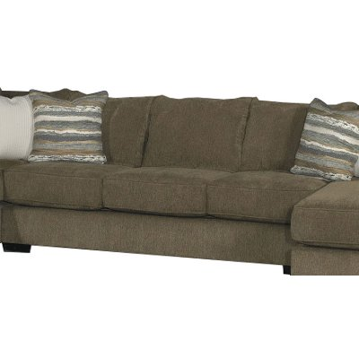 Contemporary Chocolate Brown Armless Sofa Bed - Tranquility