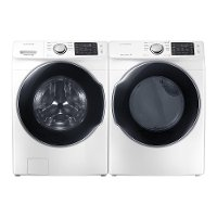 KIT Samsung Front Load Washer and Laundry Set - White Electric