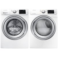 KIT Samsung Front Load Washer and Dryer Set - White Electric