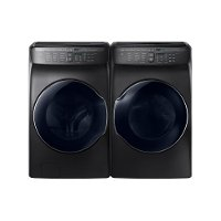 KIT Samsung Front Load Washer and Electric Dryer with Steam - Black Stainless Steel