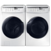 KIT Samsung FlexWash Front Load Washer and Dryer Set - White Electric
