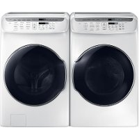 KIT Samsung FlexWash Front Load Washer and Dryer - White Gas