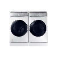 KIT Samsung FlexWash Front Load Washer and Dryer Set - White Gas