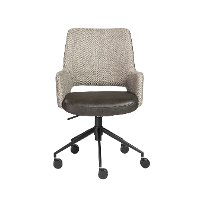 Vintage Brown and Gray Office Chair - Desi Collection