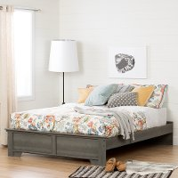 10631 Gray Maple Queen Platform Bed - Versa