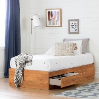 11676 Country Pine Twin Storage Bed - Logik